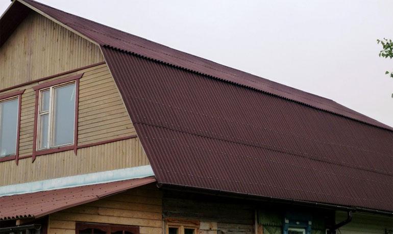 Ремонт крыши металлической на даче