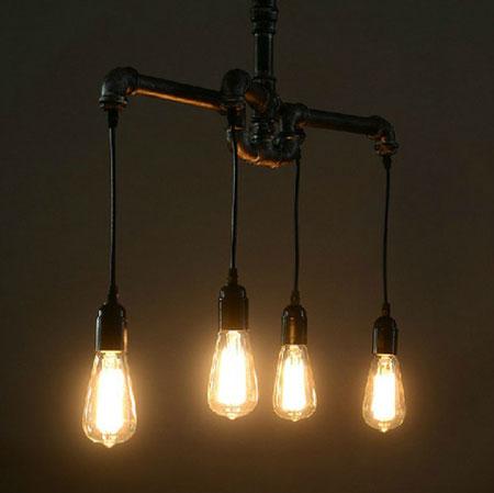 самодельные люстры и светильники фото