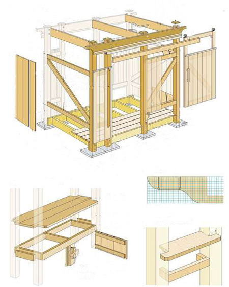 Хозблок для дачи чертежи деревянный